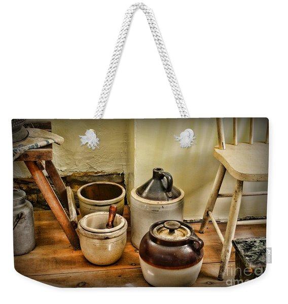 Kitchen Old Stoneware Weekender Tote Bag