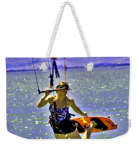 A Kite Board Hoot Weekender Tote Bag