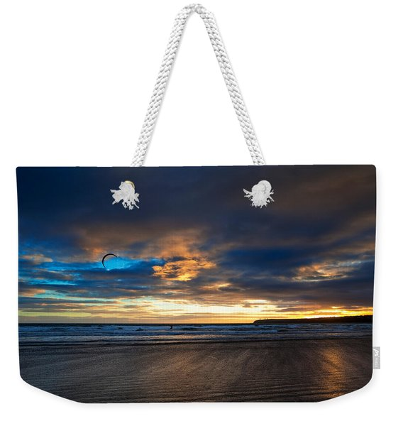 Kite Surfers On Tramore Beach Weekender Tote Bag