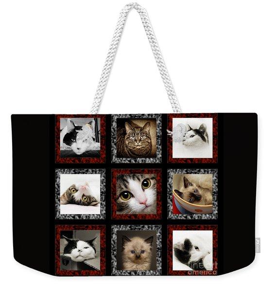 Kitty Cat Tic Tac Toe Weekender Tote Bag
