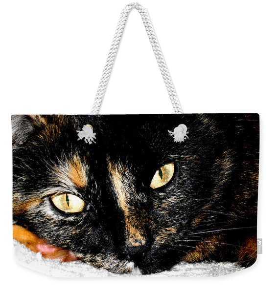 Kitty Face Weekender Tote Bag