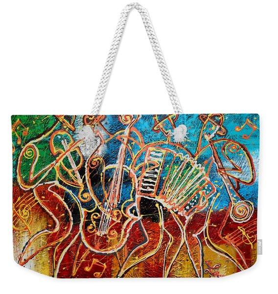 Klezmer Music Band Weekender Tote Bag