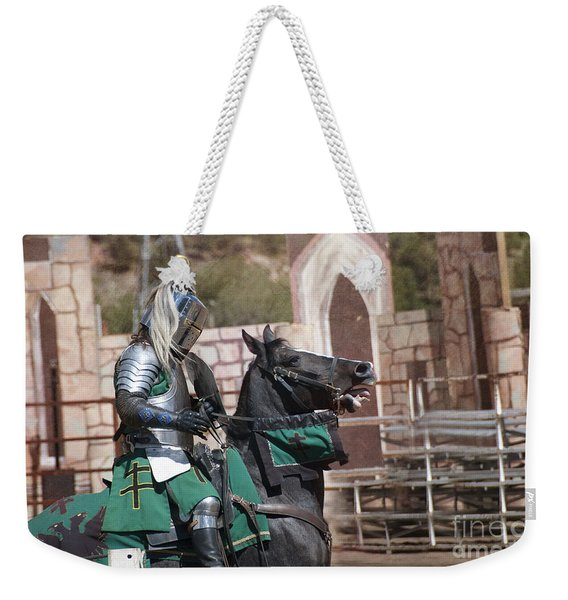 Knight And His Horse Weekender Tote Bag