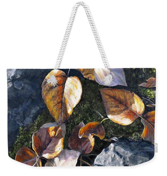 Knik River Autumn Leaves Weekender Tote Bag