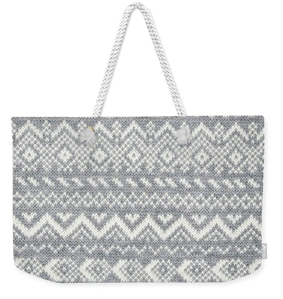 Knit Pattern Abstract Weekender Tote Bag