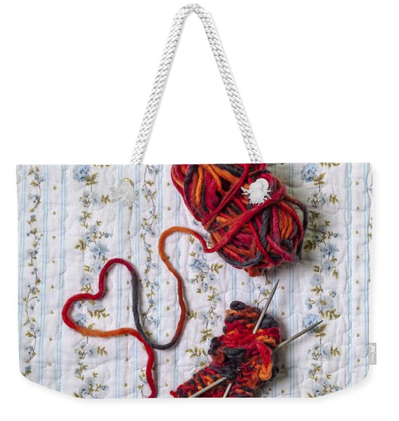 Knitted With Love Weekender Tote Bag