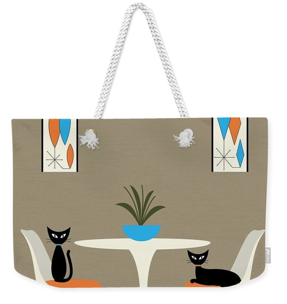 Weekender Tote Bag featuring the digital art Knoll Table by Donna Mibus