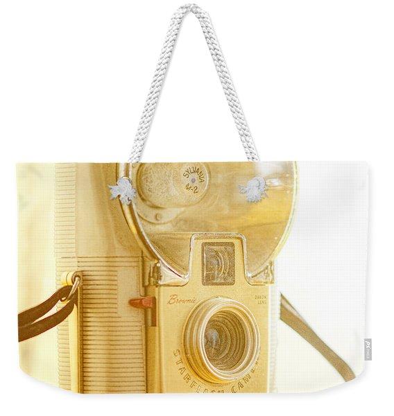 Kodak Brownie Starflash Camera Weekender Tote Bag