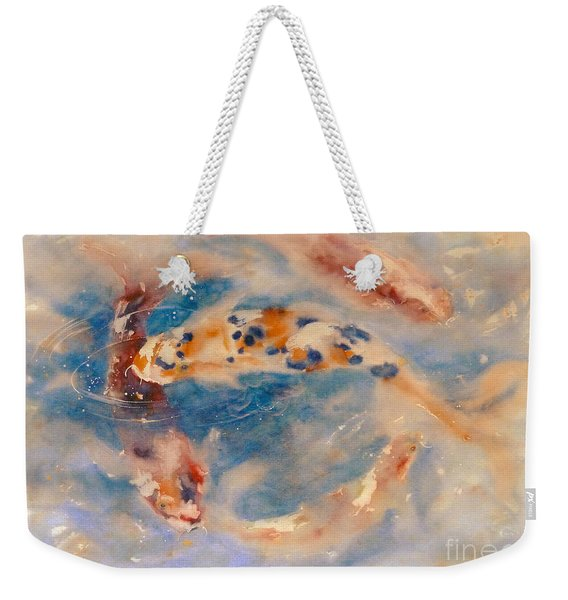 Koi Circle Weekender Tote Bag