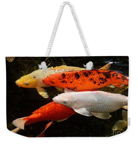 Koi Gathering Weekender Tote Bag