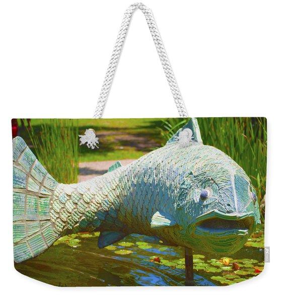 Koi Pond Fish Santa Barbara Weekender Tote Bag
