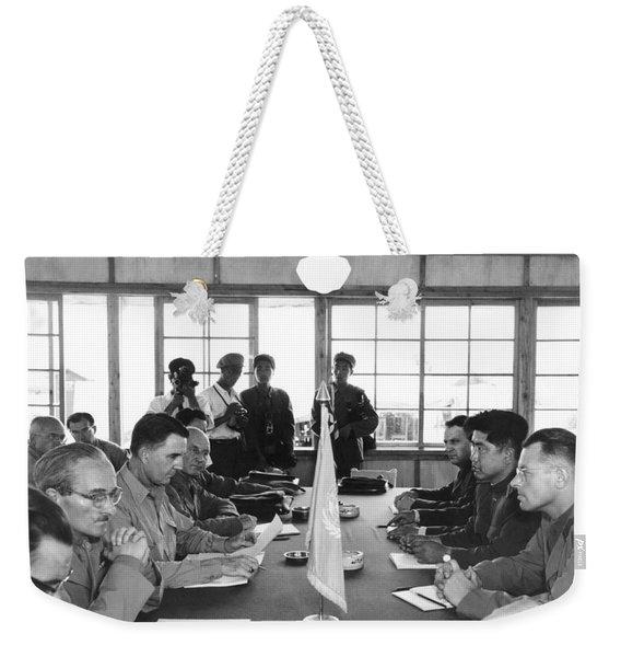 Korean Armistice Meeting Weekender Tote Bag