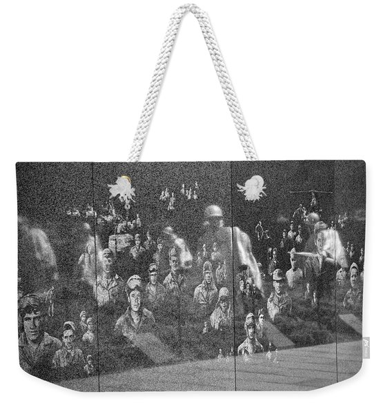 Weekender Tote Bag featuring the photograph Korean War Veterans Memorial by Jemmy Archer
