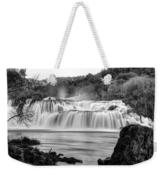 Krka Waterfalls Bw Weekender Tote Bag