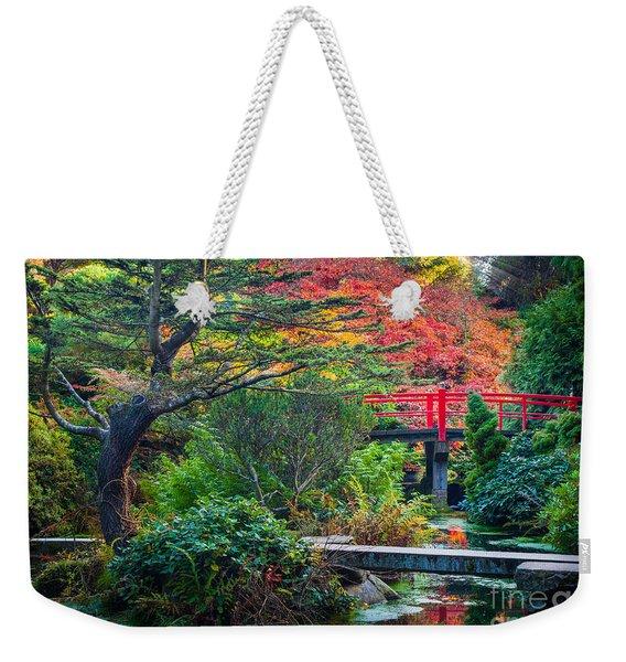 Kubota Gardens In Autumn Weekender Tote Bag