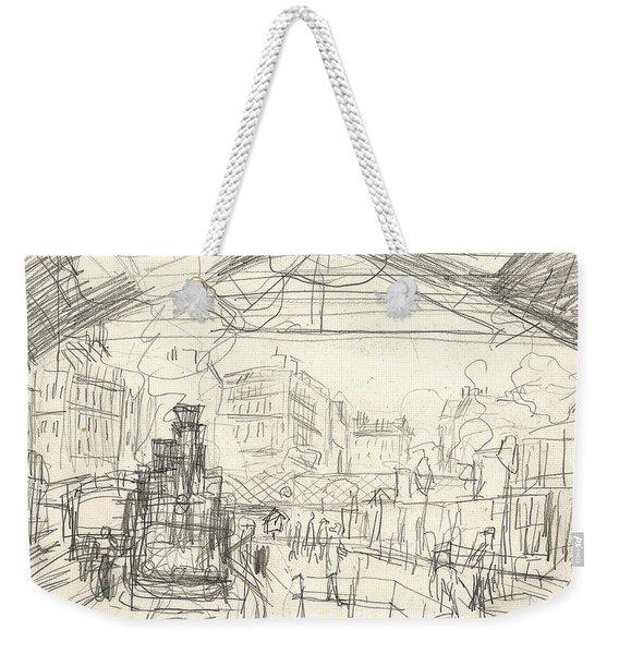 La Gare Saint Lazare Weekender Tote Bag