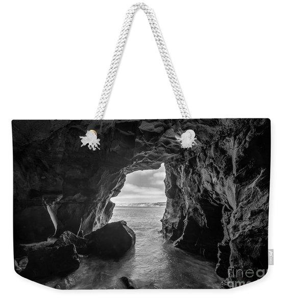 La Jolla Cave Bw Weekender Tote Bag