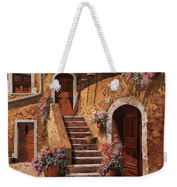 La Scalinata In Cortile Weekender Tote Bag