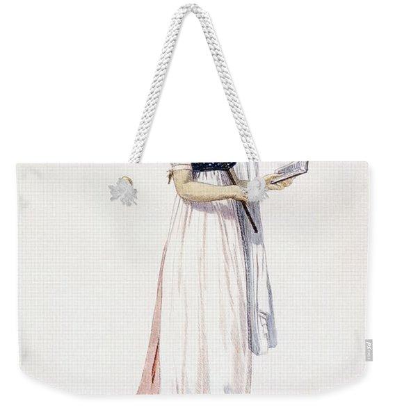 Ladies Elegant Summer Dress Weekender Tote Bag