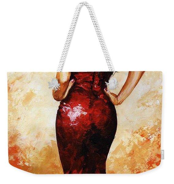 Lady In Red 035 Weekender Tote Bag