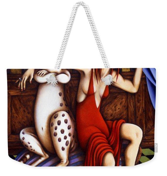 Lady In Red Weekender Tote Bag