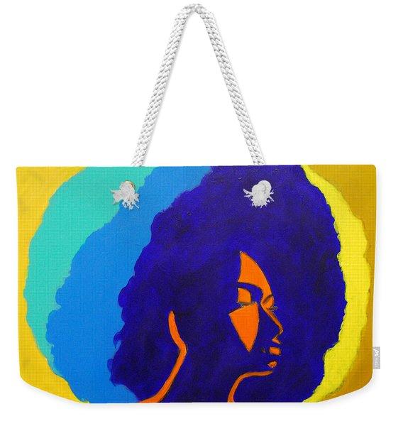Lady Indigo Weekender Tote Bag