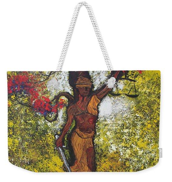 Lady Of Justice Weekender Tote Bag