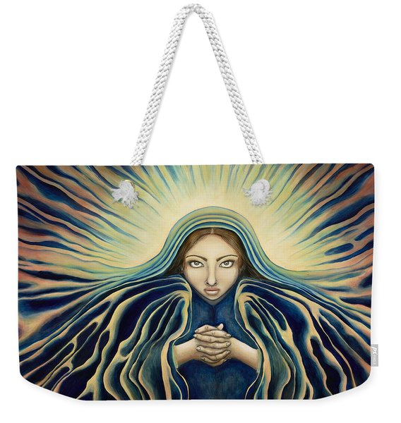 Lady Of Light Weekender Tote Bag