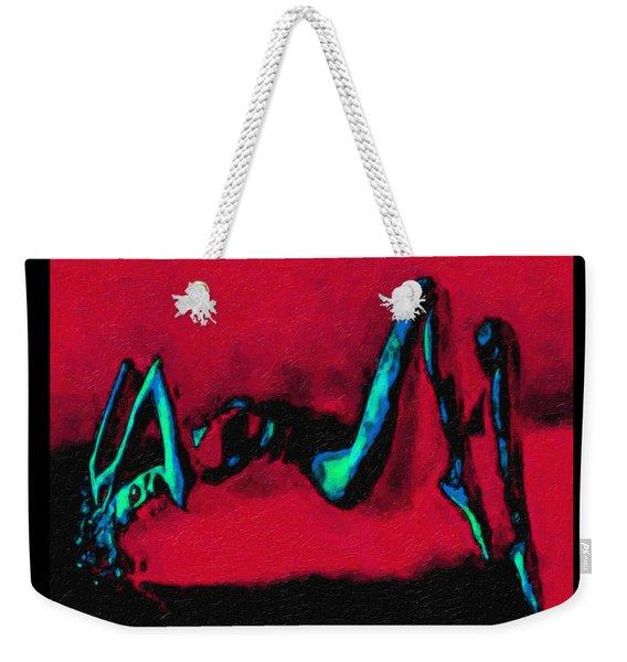 Lady On Red Weekender Tote Bag