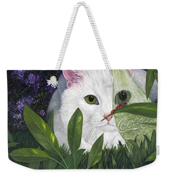 Ladybugs And Cat Weekender Tote Bag