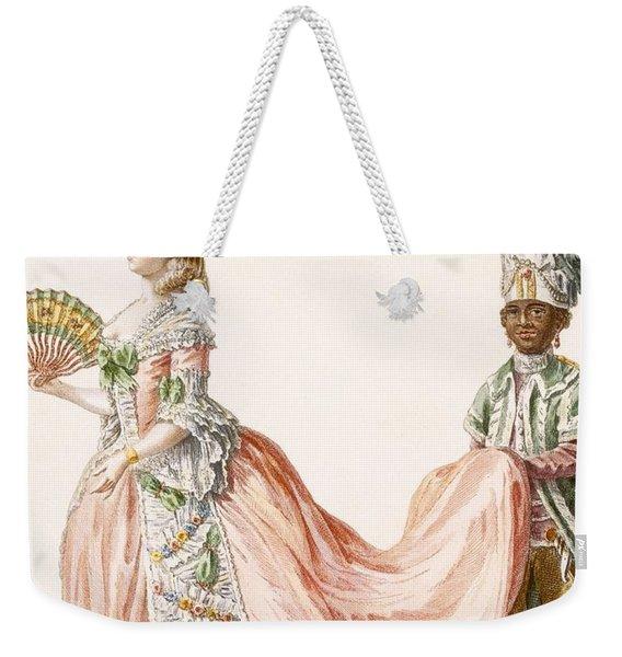 Ladys Elaborate Evening Gown, Engraved Weekender Tote Bag