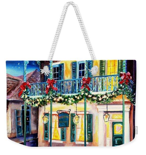 Lafitte Guest House At Christmas Weekender Tote Bag