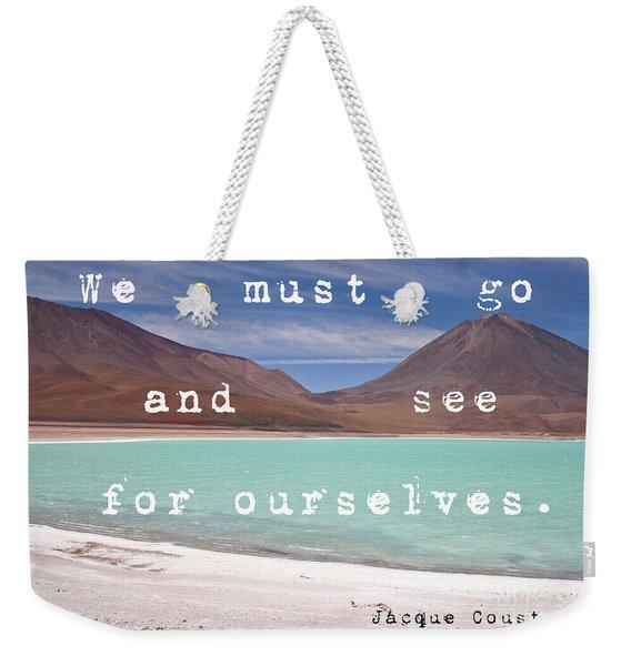 Laguna Verde- Bolivia Weekender Tote Bag