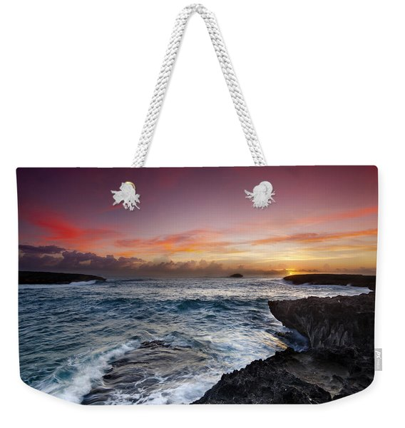 Laie Point Sunrise Weekender Tote Bag