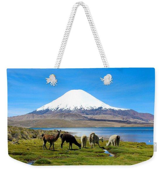 Lake Chungara Chilean Andes Weekender Tote Bag