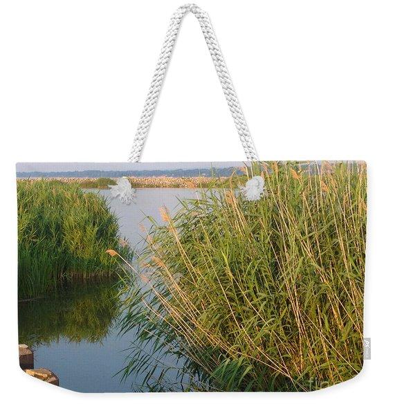 Lake Erie Grasses Weekender Tote Bag