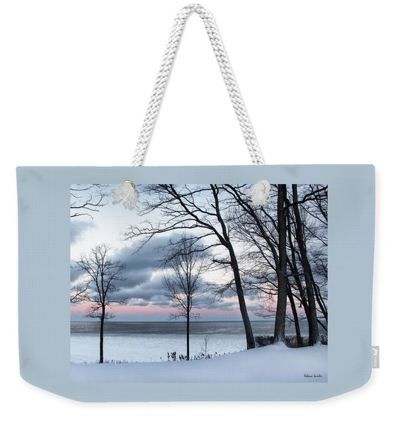 Lake Erie Sunrise Weekender Tote Bag