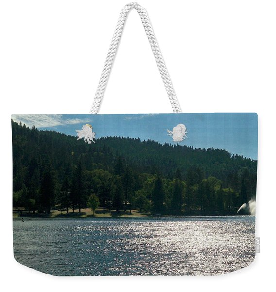 Scenic Lake Photography In Crestline California At Lake Gregory Weekender Tote Bag