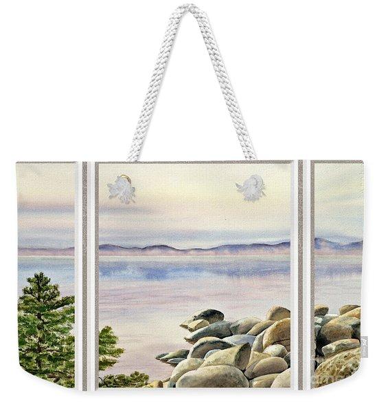Lake House Window View Weekender Tote Bag