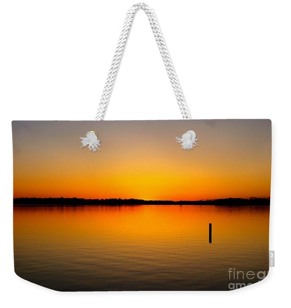 Lake Independence Sunset Weekender Tote Bag