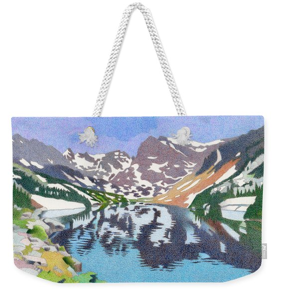 Lake Isabelle Colorado Weekender Tote Bag