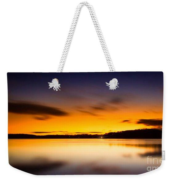 Lake Lanier Sunrise Weekender Tote Bag