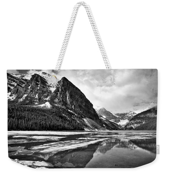 Lake Louise - Black And White #3 Weekender Tote Bag
