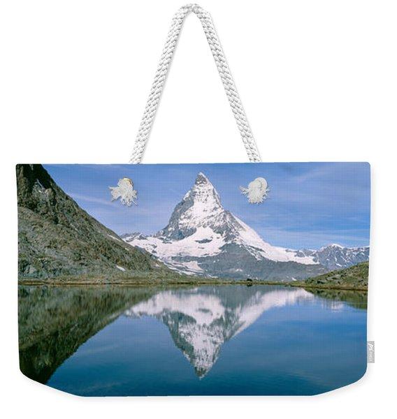 Lake, Mountains, Matterhorn, Zermatt Weekender Tote Bag