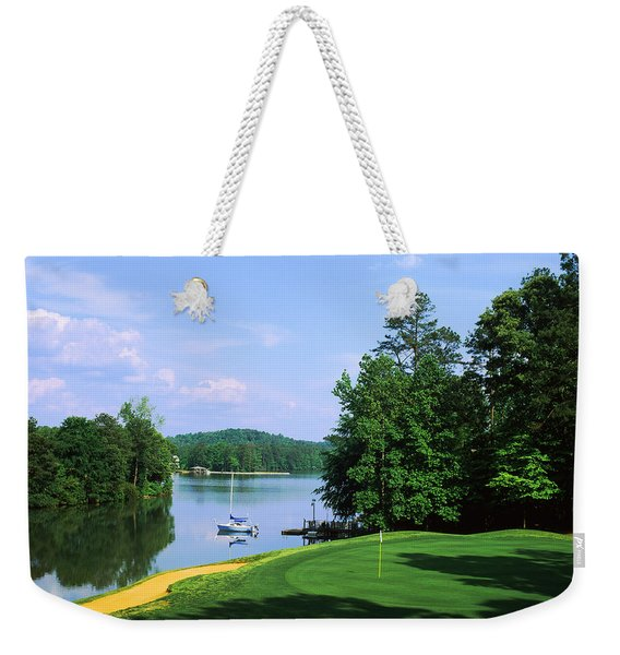 Lake On A Golf Course, Legend Course Weekender Tote Bag