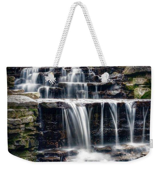 Lake Park Waterfall Weekender Tote Bag