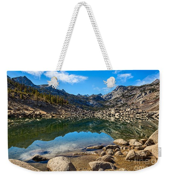 Lake Sabrina In Bishop Creek Canyon. Weekender Tote Bag