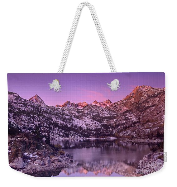Lake Sabrina Sunrise Eastern Sierras California Weekender Tote Bag