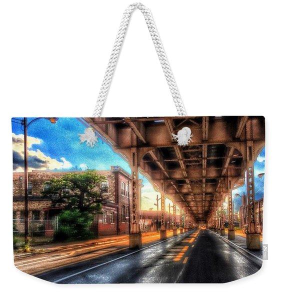Lake Street El Tracks Weekender Tote Bag