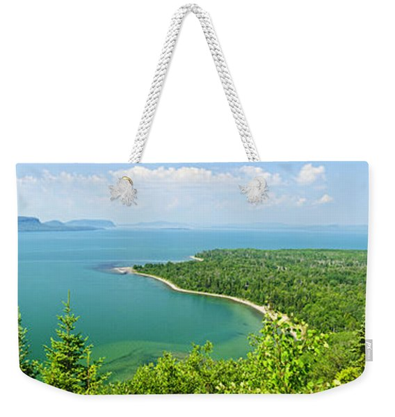 Lake Superior Panorama Weekender Tote Bag